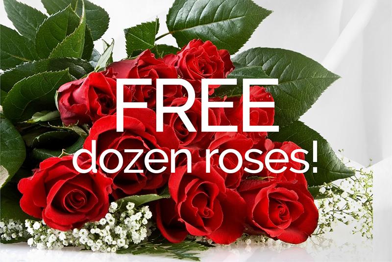 FREE Dozen Roses!